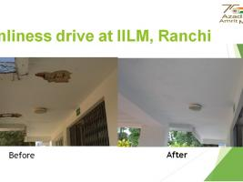 Cleanliness drive at IILM, Ranchi