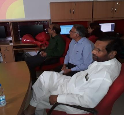Hon'ble Minister visited NCH, IIPA New Delhi on 12-06-2019