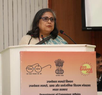 WELCOME ADDRESS BY SMT. SHEFALI SHAH, ADDITIONAL SECREATRY , DEPARTMENT OF CONSUMER AFFAIRS
