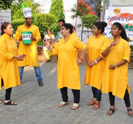 """""""Nukkad Natak"""" on """"Swachhata Hi Sewa"""" campaign will be performed by artistes from this Department at 3.30 pm on 28th September, 2017 at Dilli Haat, INA, New Delhi"""