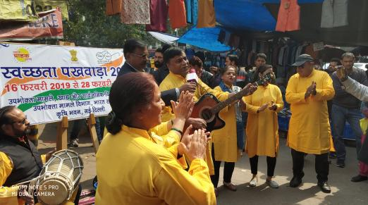 Nukkad Natak during Swachhata Pakhwada at NDMC market, opposite Krishi Bhawan, New Delhi on 27 Feb 2019