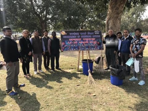 """Shramdaan – cleanliness at Boat Club during """"Swachhta Pakhwara"""""""