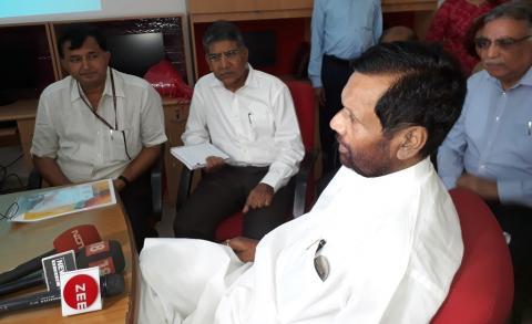 Hon'ble Minister visited NCH, IIPA New Delhi on 12-06-2019